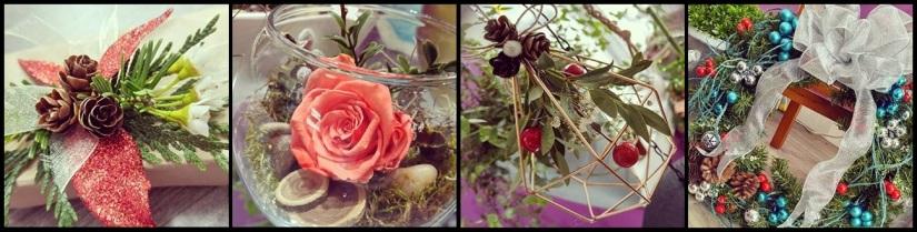 noel fleurs fleuriste art floral plantes couronne rose.jpg
